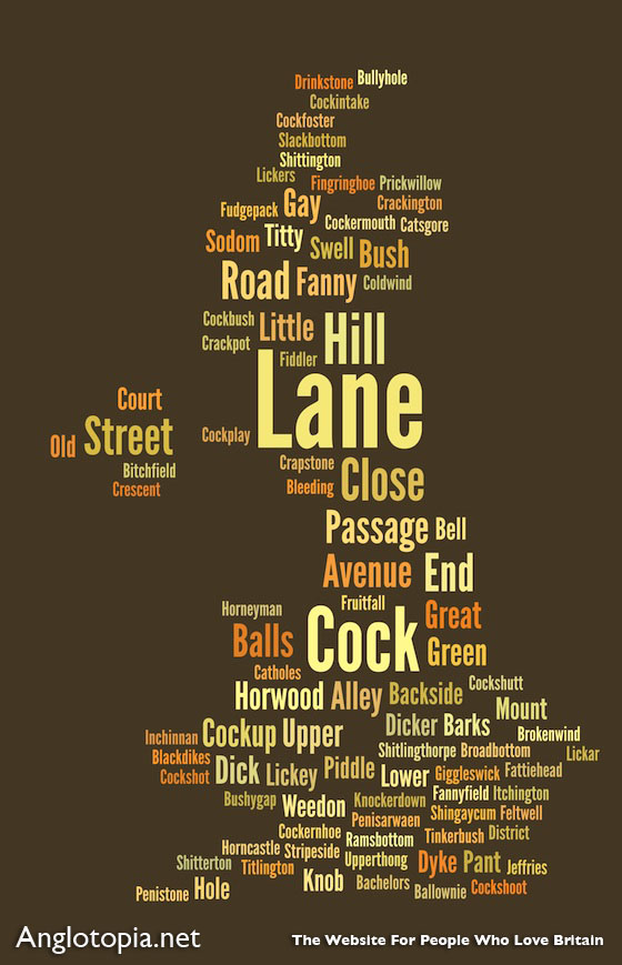 Rude And Funny London Street Place Names