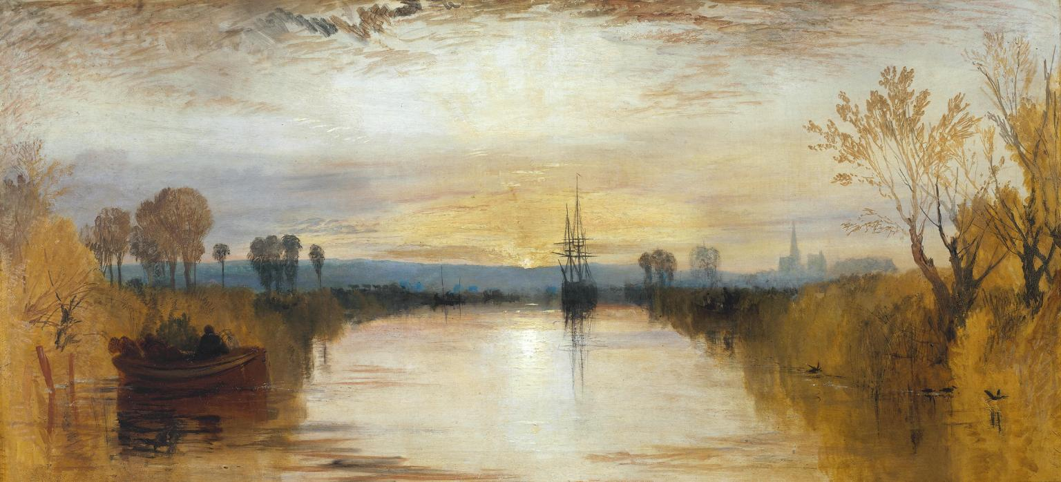 Great British Art: Chichester Canal by Joseph Mallord William Turner c.1828