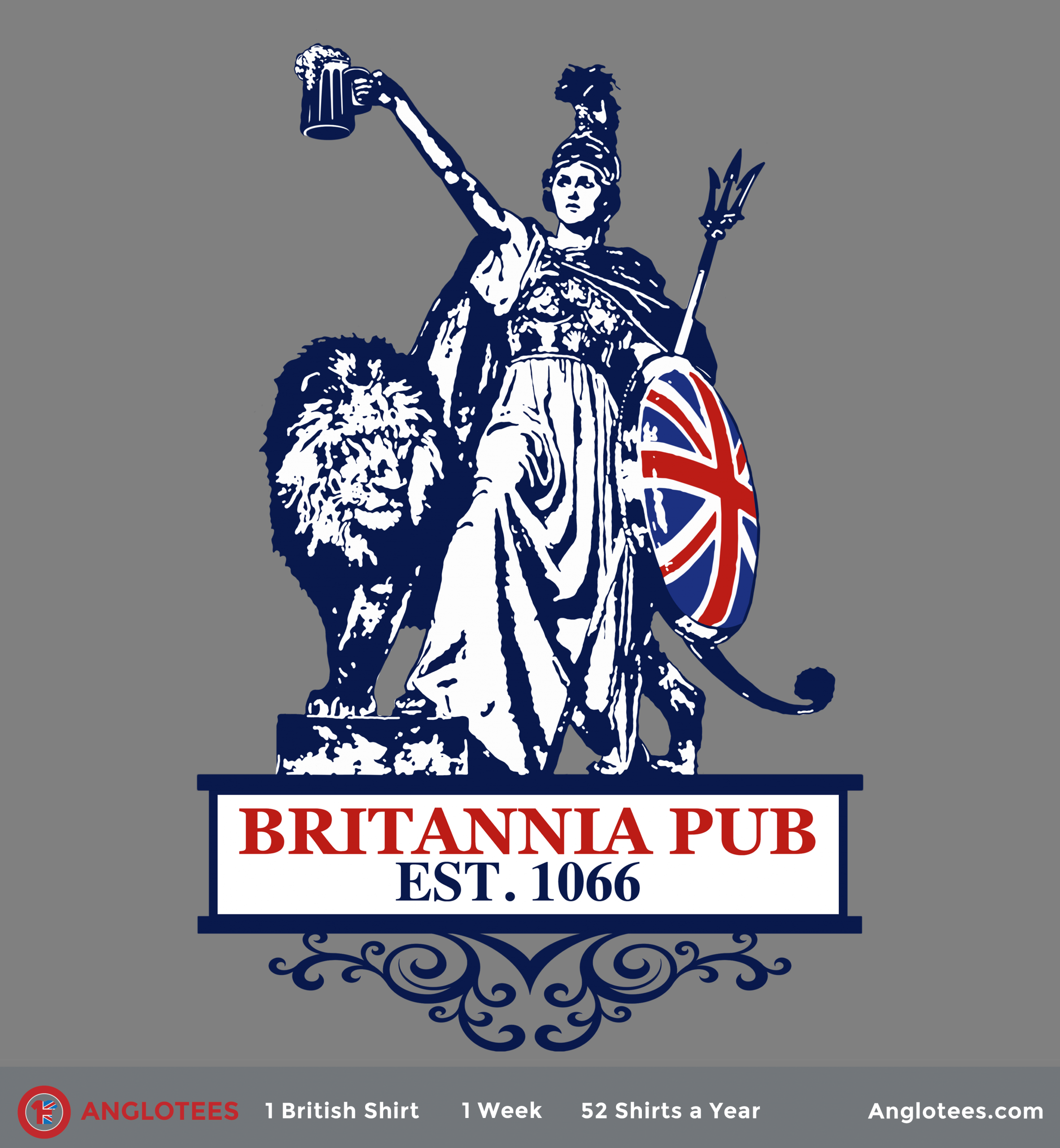 Anglotees Alert: New Shirt LIVE – Britannia Pub – Our Tribute to the Great British Pub