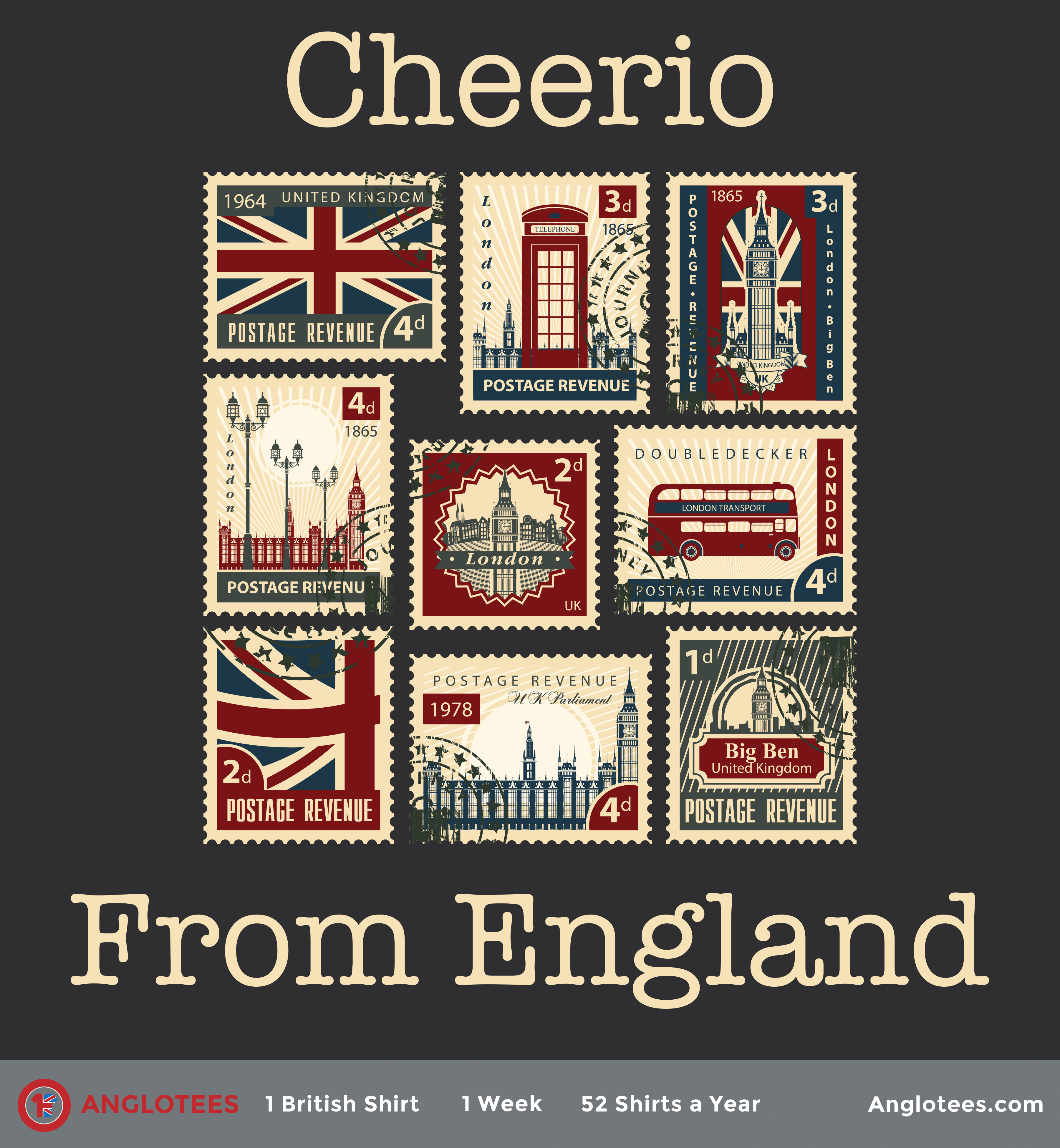 Anglotees Alert: New Shirt LIVE – Postcards from England