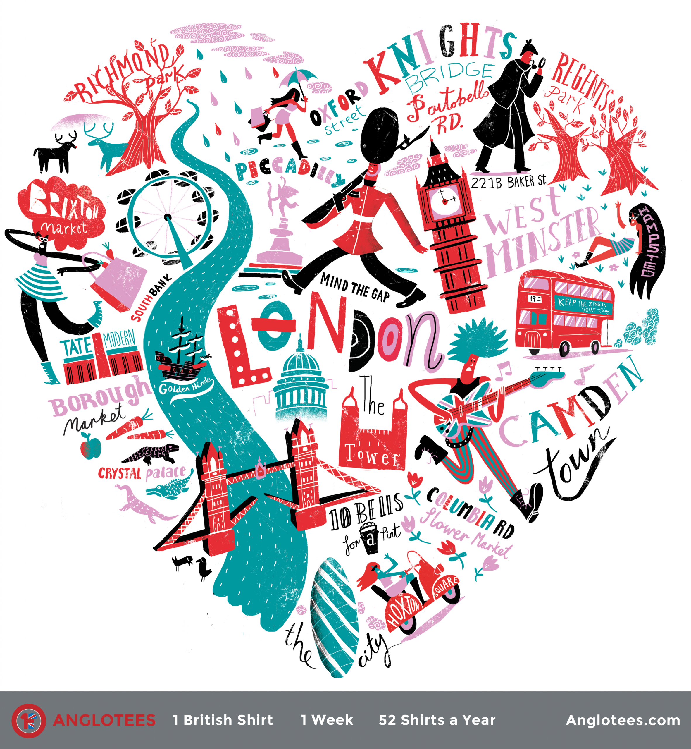 Anglotees Alert: New Design LIVE – Londoner at Heart by Migy Blanco
