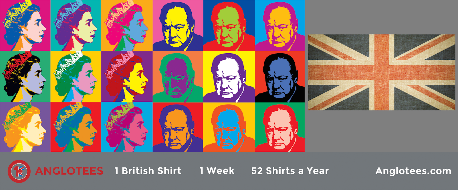 Anglotees Alert: 3 Designs LIVE – The Queen, Churchill and Union Flag