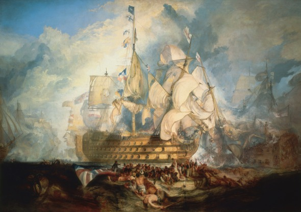 Great British Art: The Battle of Trafalgar by Joseph Mallord William Turner