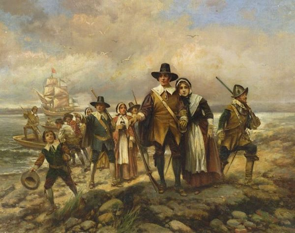 Winter at Plymouth Colony