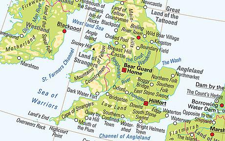 Map Of Britain With Real Place Names