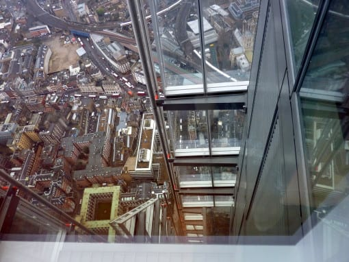 Looking down from level 69