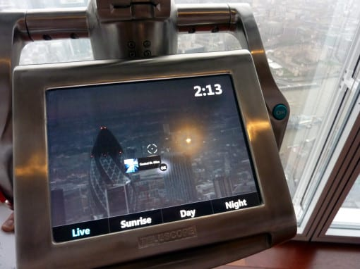 What you see on the Tell:scopes© Laura Porter (taken at View From The Shard)