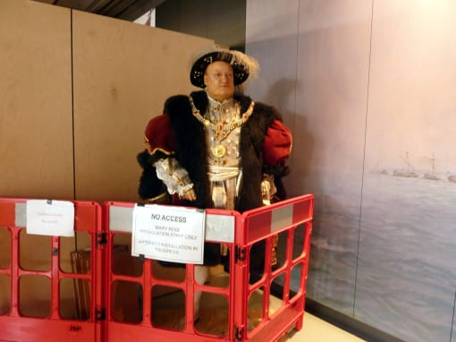 Henry VIII - seen on a preview day when the museum was not yet complete. (c) Laura Porter