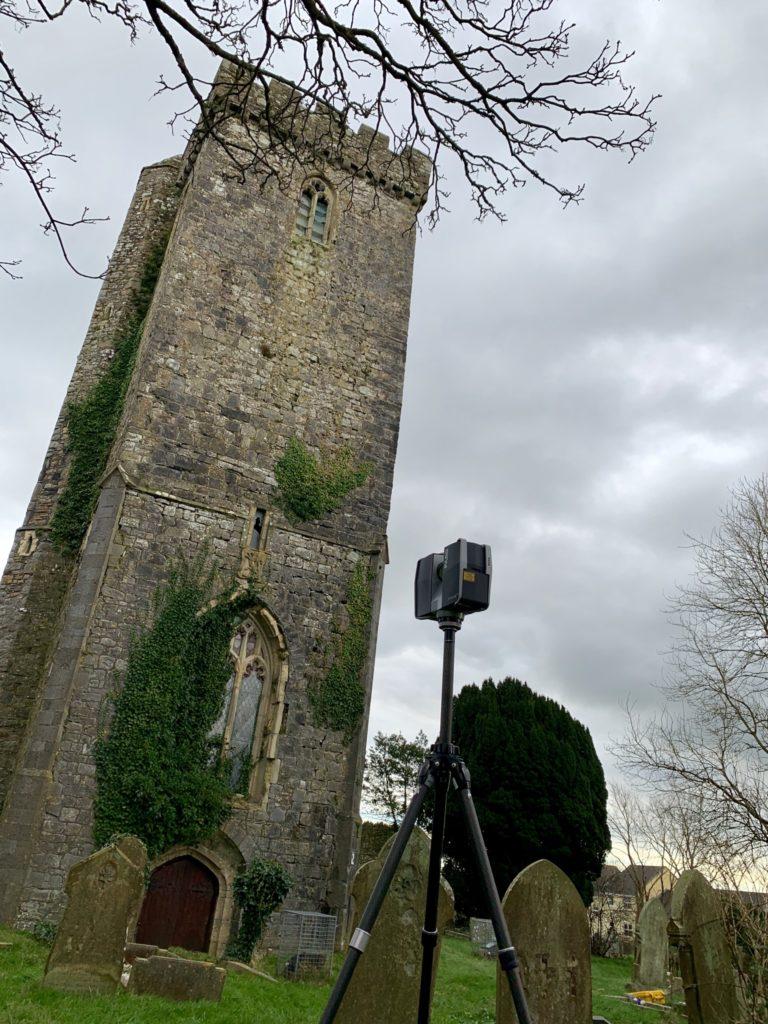Haverfordwest Church - laser survey